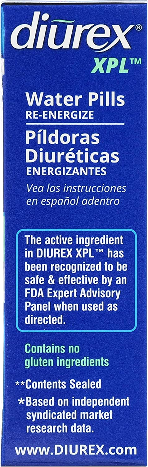 Diurex XPL Re-energizing Water Pills - Relieve Bloating & Fatigue - 22 Count: Health & Personal Care