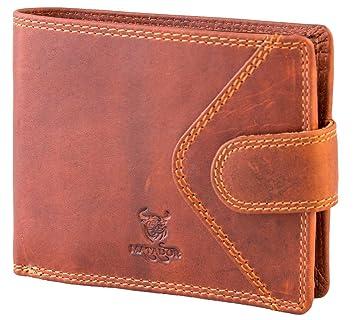 87e3f844587fc MATADOR RFID Schutz Herren Portemonnaie Geldbörse Echt Leder Antik Braun  Brieftasche Portmonee Damen Geldtasche Geldbeutel