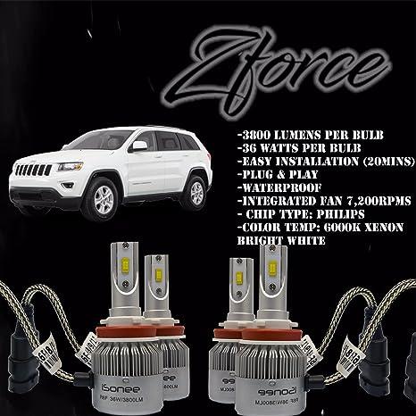 ZFORCE bajo haz combo todo en uno + luces antiniebla H11 & H11 6000 K Xenon
