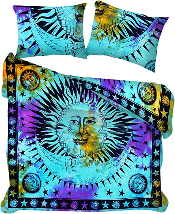 Indian Duvet Cover Hippie Bohemian Mandala Bedding Bed Set With Pillow Case New
