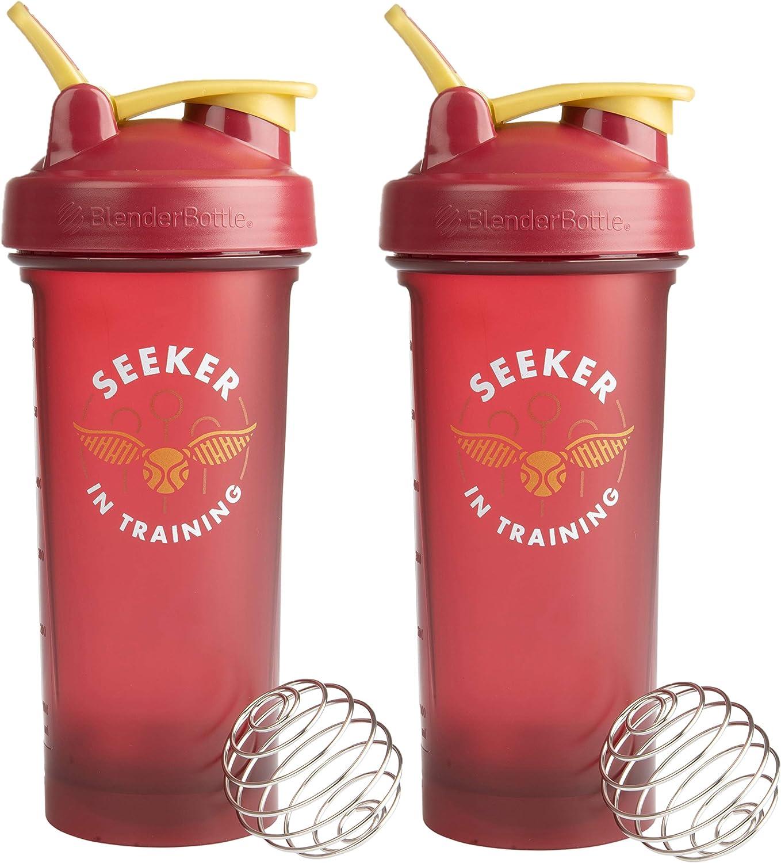 Harry Potter BlenderBottle V2 Shaker Bottle, 28 oz, 2-Pack - Seeker In Training - Gryffindor Quidditch Colors