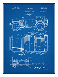 Amazon 1914 indianapolis 500 vintage car racing poster fine 1941 jeep military vehicle patent print art poster unframed blueprint 18 malvernweather Images