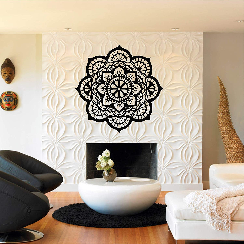 "Metal Wall Decor, Metal Mandala Wall Art, Bohemian Art, Interior Decor, Metal Sign, Metal Wall Art Mandala Decor, (17""W x 17""H / 44x44 cm)"