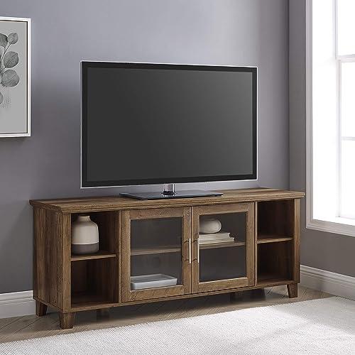 Best modern tv stand: Walker Edison Oxford Modern Double Glass Door TV Console