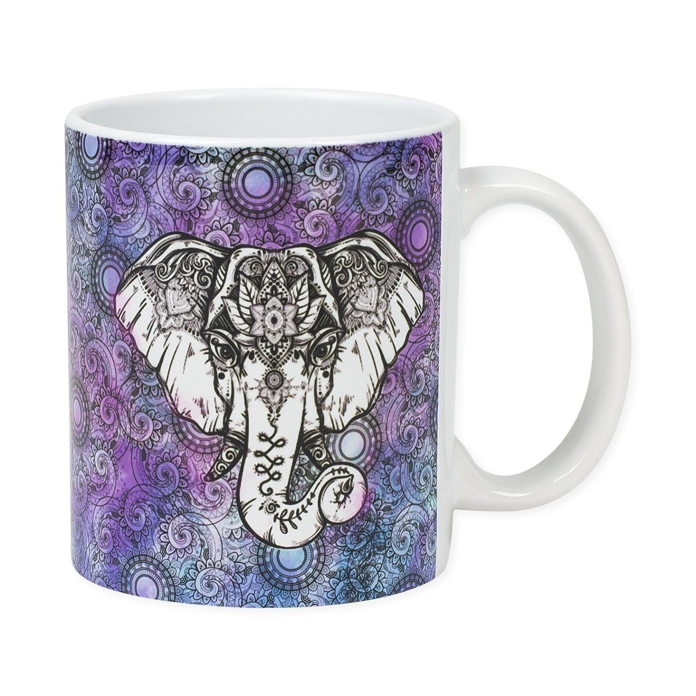 Mystic Elephants 11 Ounce Ceramic Coffee Mug