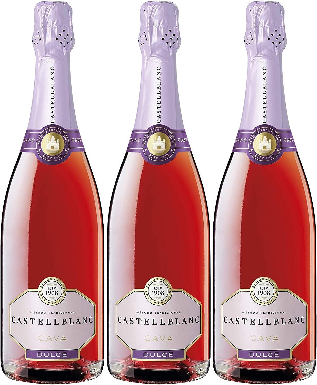 Castellblanc Rosado Cava Dulce - Pack de 3 de 750 ml - Total: 2250 ml: Amazon.es: Alimentación y bebidas