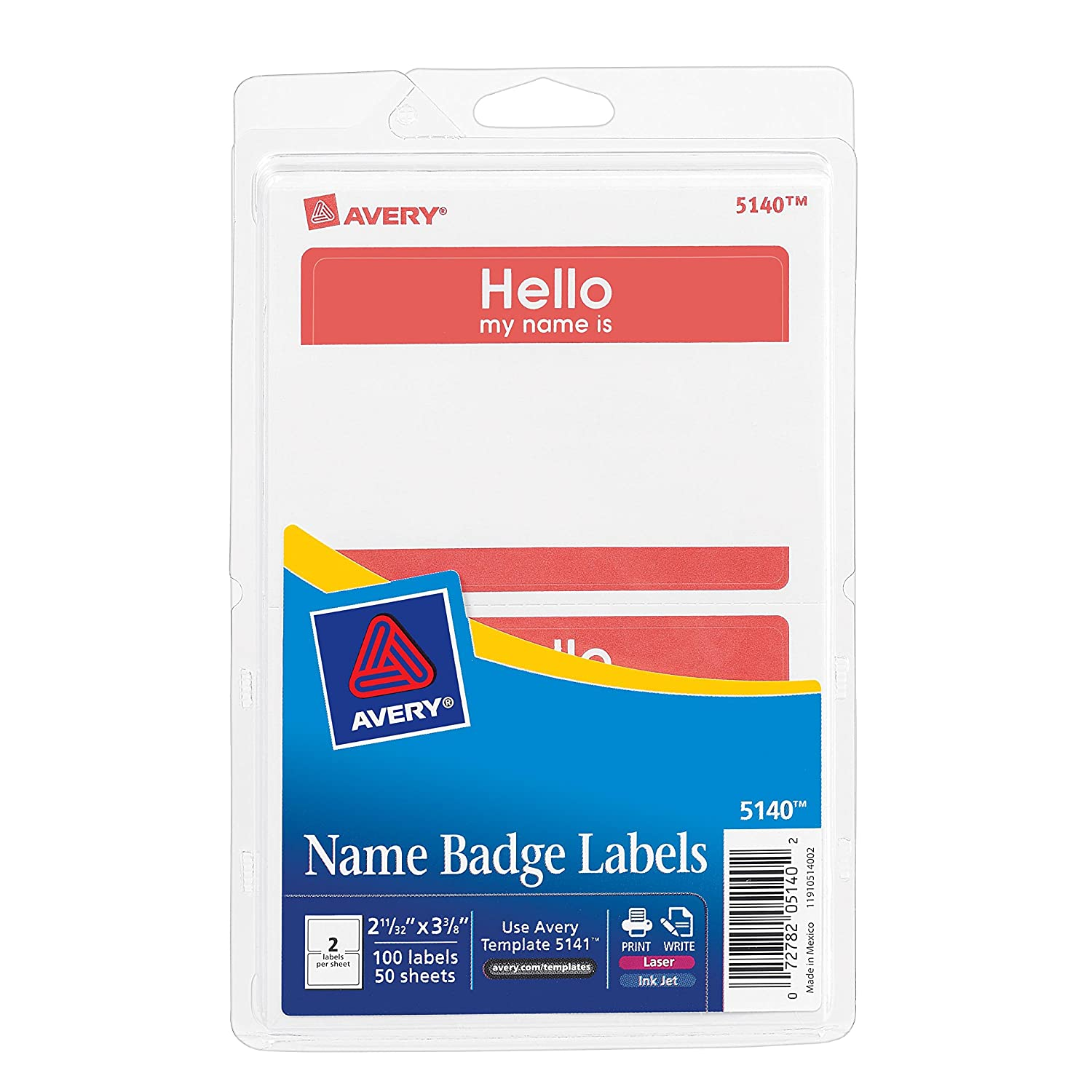 Amazoncom Avery Print Or Write Name Badge Labels With Red Border - Target employee name tag template