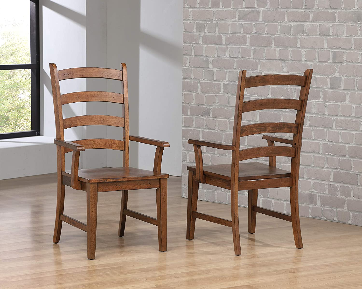 Sunset Trading Simply Brook Dining Arm Chair, Amish Brown