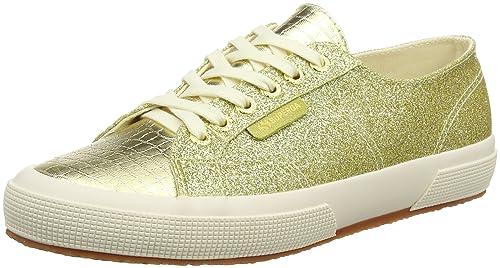 Superga 2750 Microglittercotmetcoccow Sneaker Donna Multicolore Orange