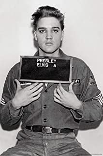 product image for Frame USA Elvis Presley Enlistment Photo Poster (Unframed)(24x36)