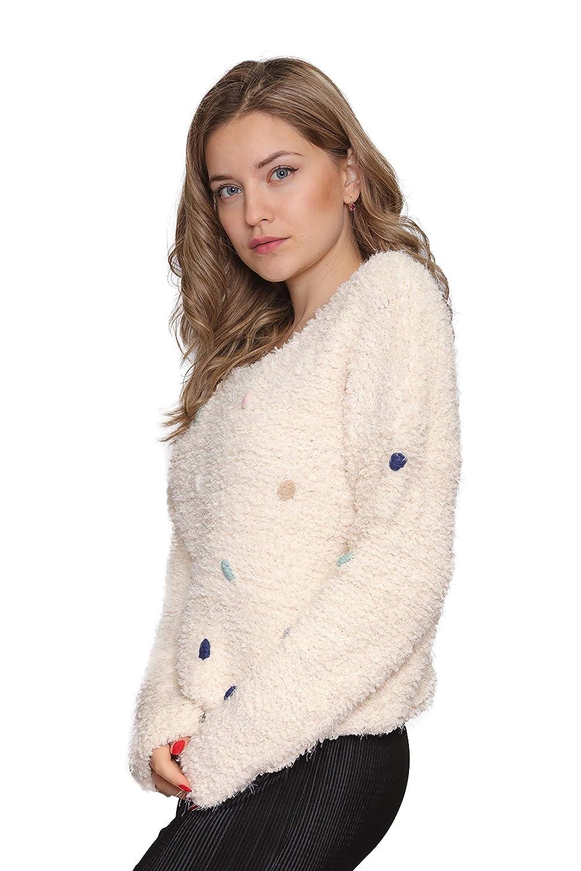 Aarzoo Femme Soft Touch Pull Pom Pom Détail  Amazon.fr  Vêtements et  accessoires fc34ad4146c