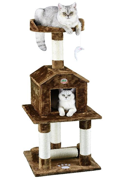 GO Club (114,3 cm de Mascota Gato árbol (3 Niveles, marrón