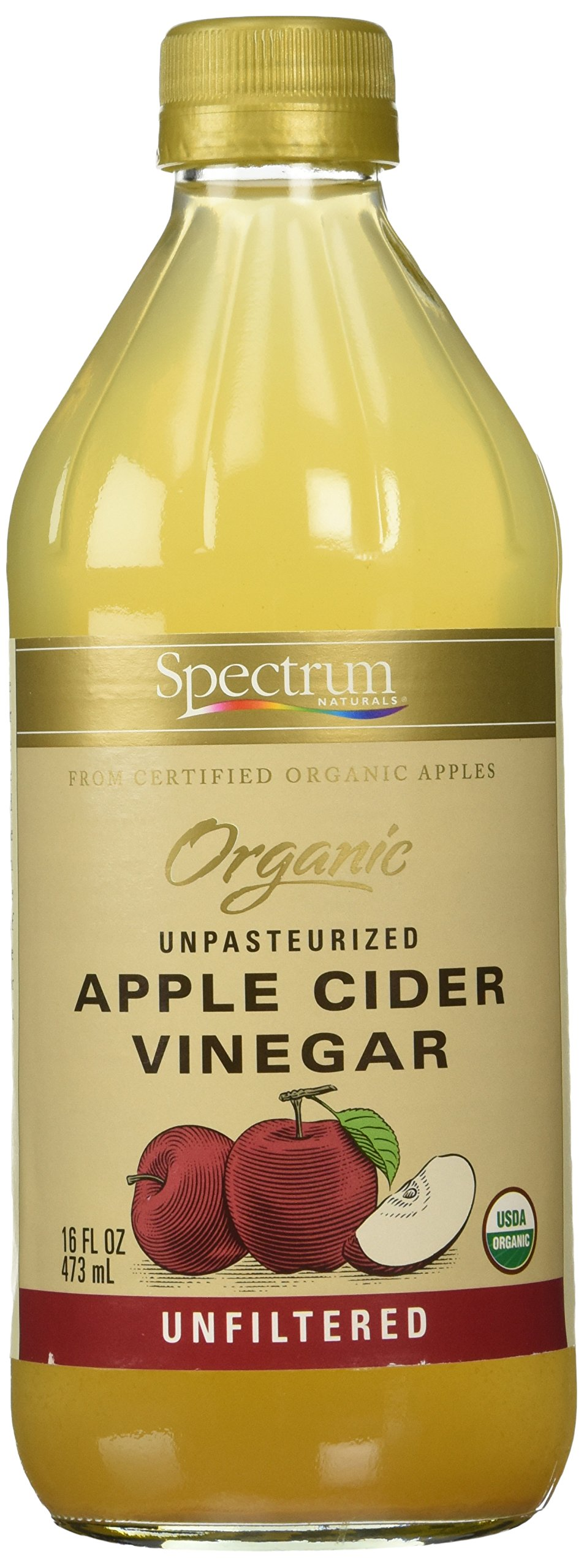 Spectrum Naturals Organic Apple Cider Vinegar, Unfiltered, 16 oz