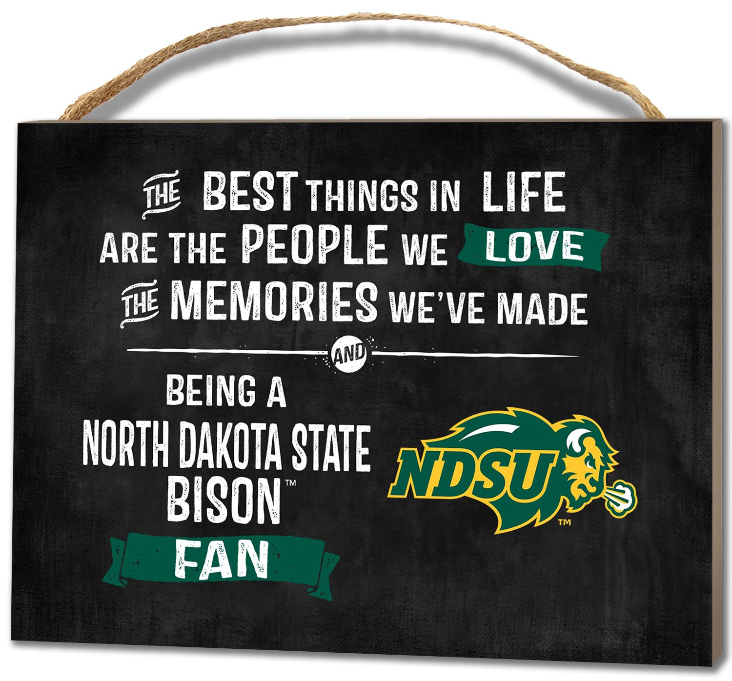 KH Sports Fan 4''X5.5'' North Dakota State Bison Best Things Small College Plaque