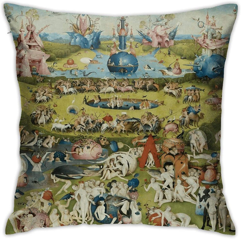 Houtiff The Garden of Earthly Delights Tapestry Throw Pillowcase, Car Cushion,Sofa, Pillowcase, Interior Decoration (45cmx45cm)