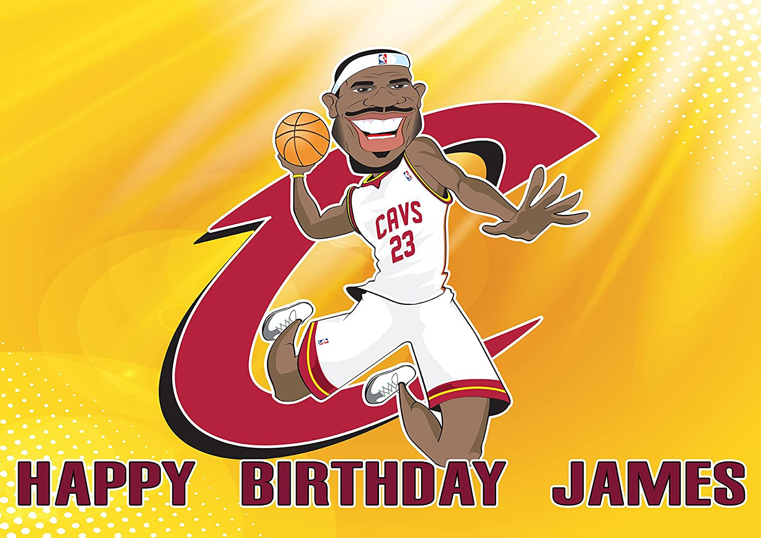 Fabulous Lebron James Cleaveland Cavaliers Birthday Cake Personalized Cake Funny Birthday Cards Online Alyptdamsfinfo