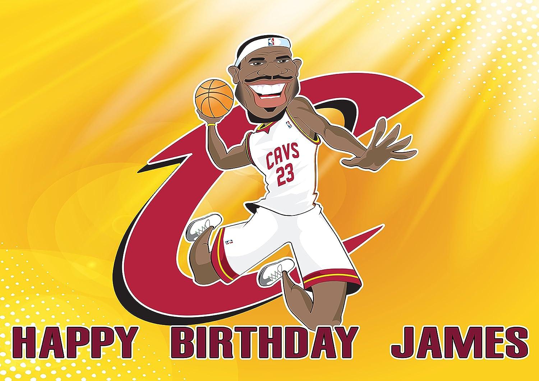 Groovy Lebron James Cleaveland Cavaliers Birthday Cake Personalized Cake Funny Birthday Cards Online Necthendildamsfinfo
