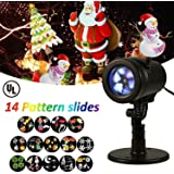Christmas Lights Projector, LIGHTESS Outdoor Indoor Xmas Decorations Waterproof LED Landscape Spotlight for Xmas Theme Party Store Window and Gard