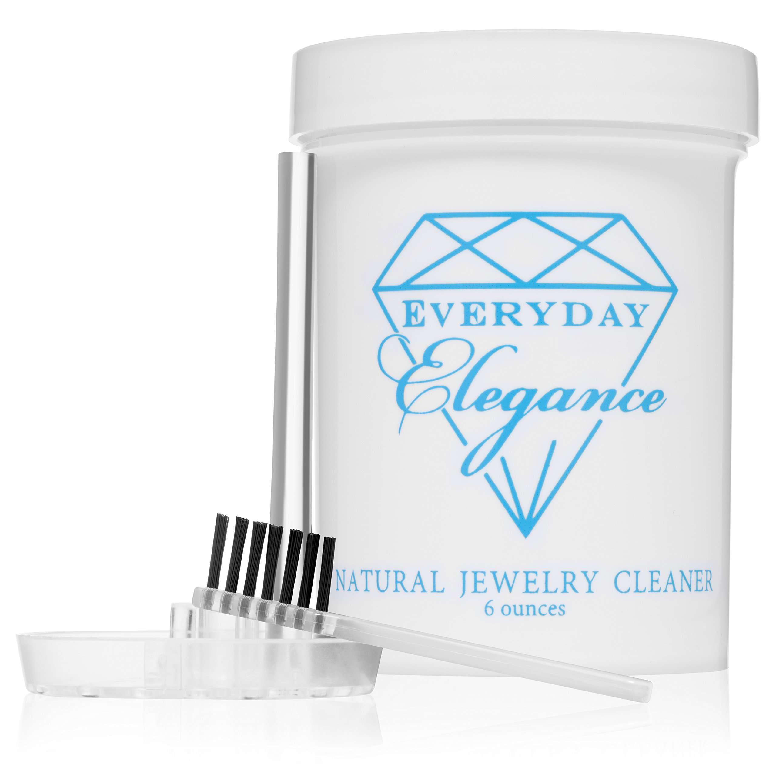 Everyday Elegance |100% All Natural Jewelry Cleaner Solution | Non-Toxic Naturally Derived Cleaning Gold, Silver & Platinum Cleaning | 6 Ounce Jar
