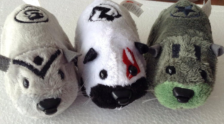 Kung Zhu Pet Battle Hamster Toy Set of 4 Ninja Warriors Azer, Drayko, Yama Thorn