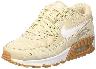 sports shoes 81063 22edd NIKE Womens Wmns Air Max 90, OatmealWhite - Gum Light Brown, 11