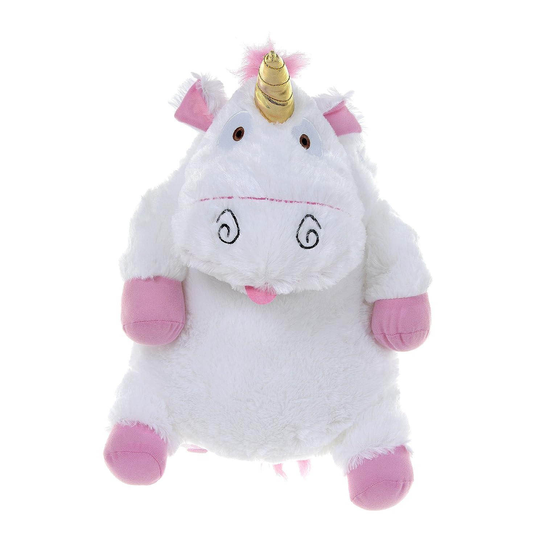 Kids Unicorn Bag Fluffy Plush Minion Backpack School Nursery Book Zip Bag Gift
