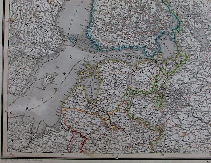 Baltic Europe Map.Amazon Com Russia In Europe Sweden Finland Lithuania Latvia Baltic