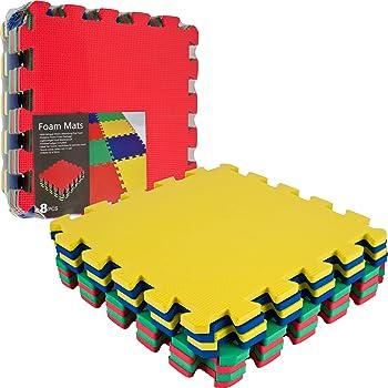 8-Pc. TG Multi-Color EVA Foam Exercise Mat