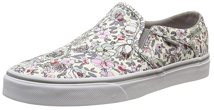 Vans Asher Damen Slip On Schuhe Floral Bunt