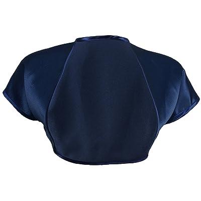 Grace & Flair - Ladies Navy Blue Satin Bolero Short Sleeve Sizes 2-28