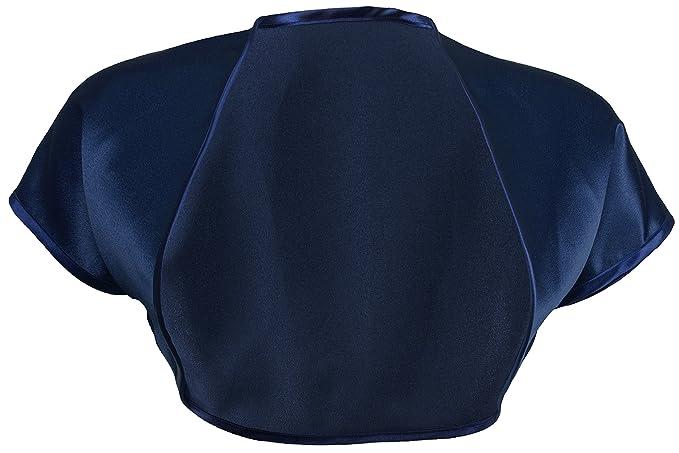 c773ddf14709 Grace   Flair - Ladies Navy Blue Satin Bolero Short Sleeve Sizes 2 ...