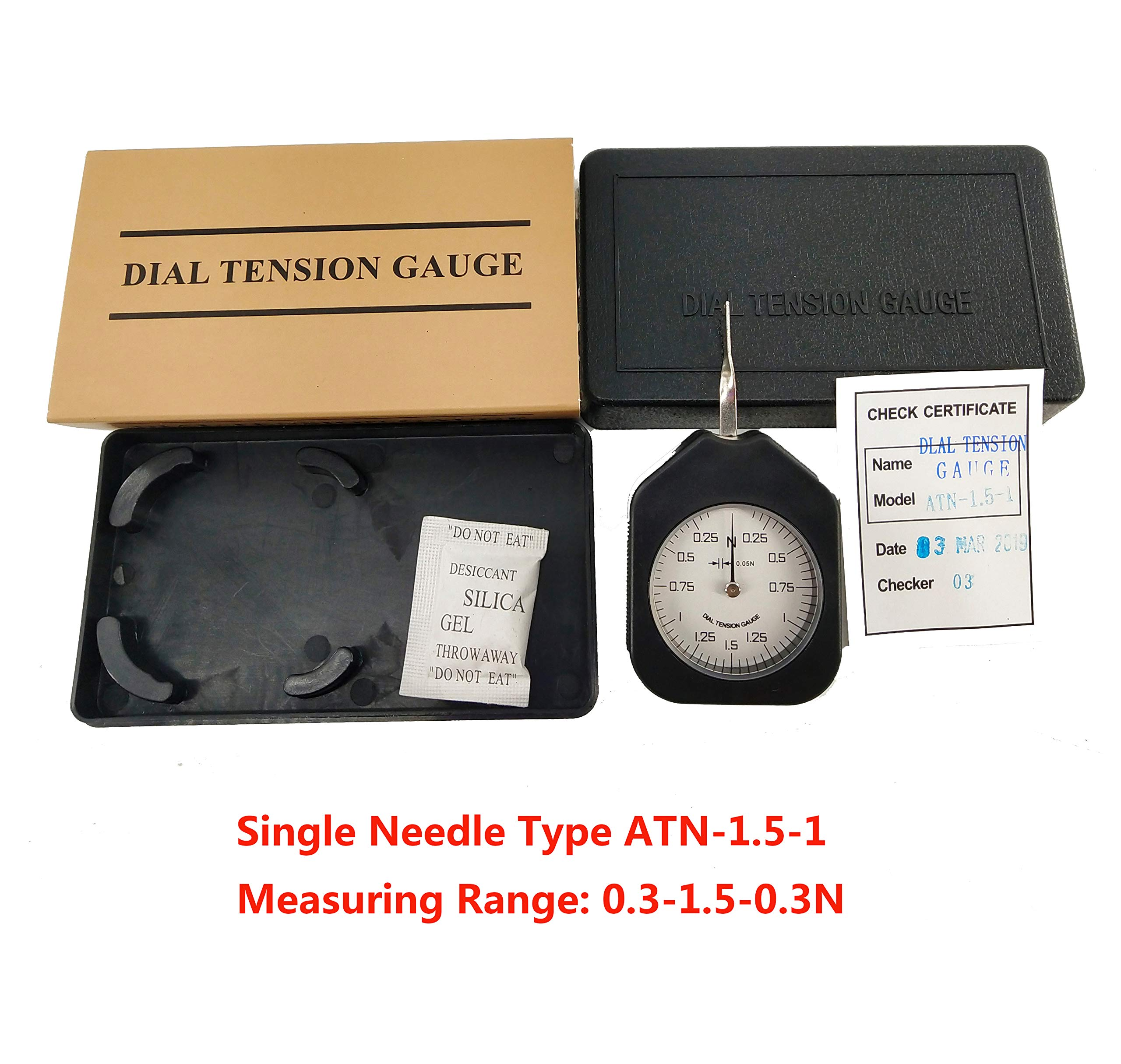 HFBTE ATN-1.5-1 Mini Size Analog Tension Gauge with Single Pointer Tensionmeter 0.3-1.5-0.3N Measurement Range by HFBTE