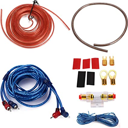 amazon.com: 10 gauge amp 1500w auto car audio system speaker kit complete  subwoofer amplifier install wiring cable: automotive  amazon.com