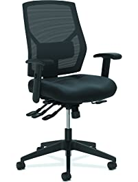 hon crio highback task chair leather meshback computer chair with control for