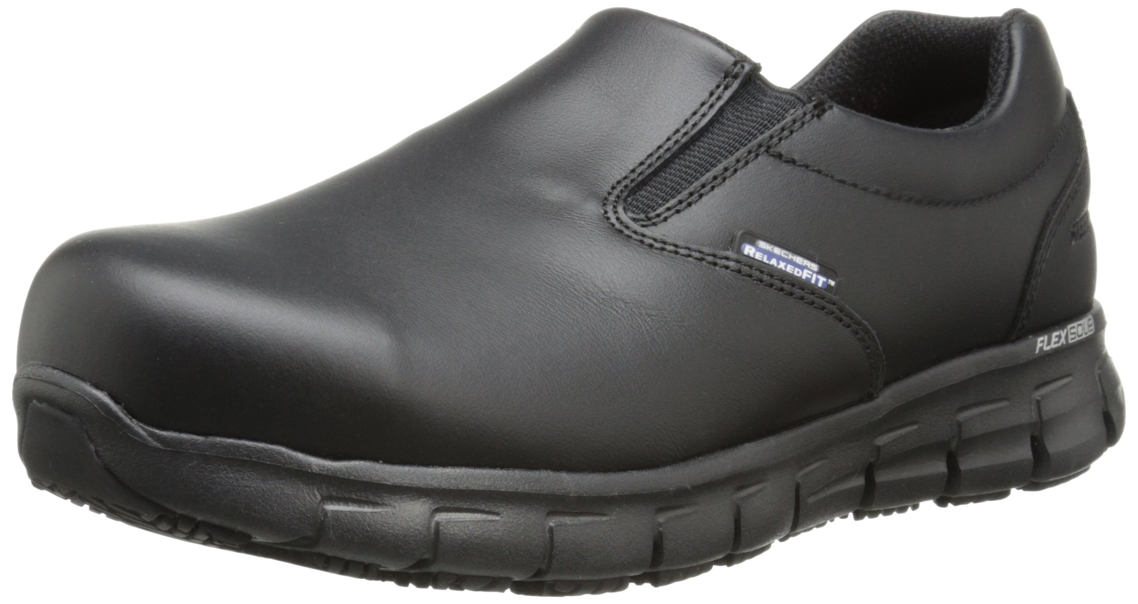 Skechers for Work Women's Sure Track Vonn Slip-On,Black,8 M US