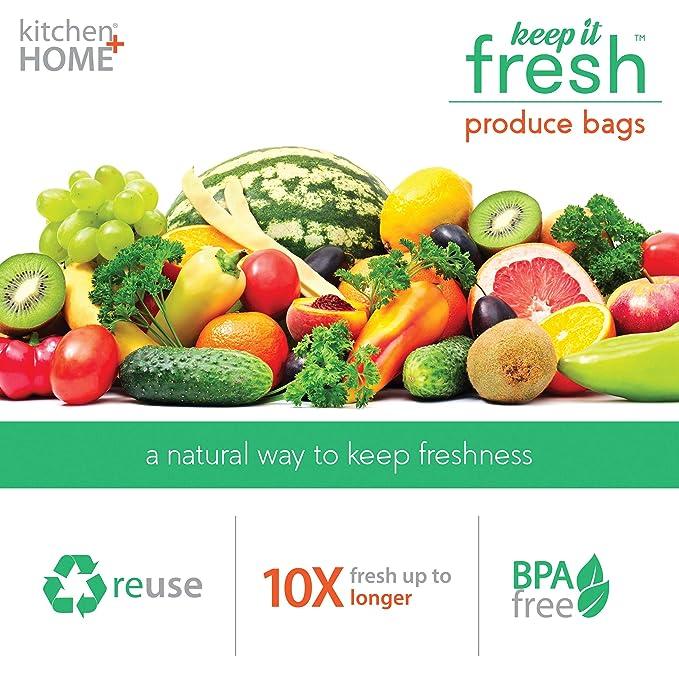 Amazon.com: Bolsas reutilizables para frutas y verduras, de ...