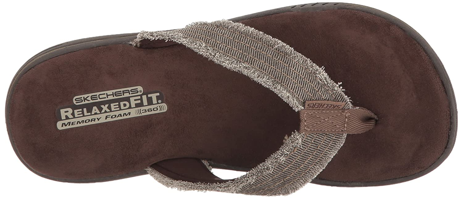 Evented-Arven, Sandales Bout Ouvert Homme, Marron (Chocolate), 42 EUSkechers