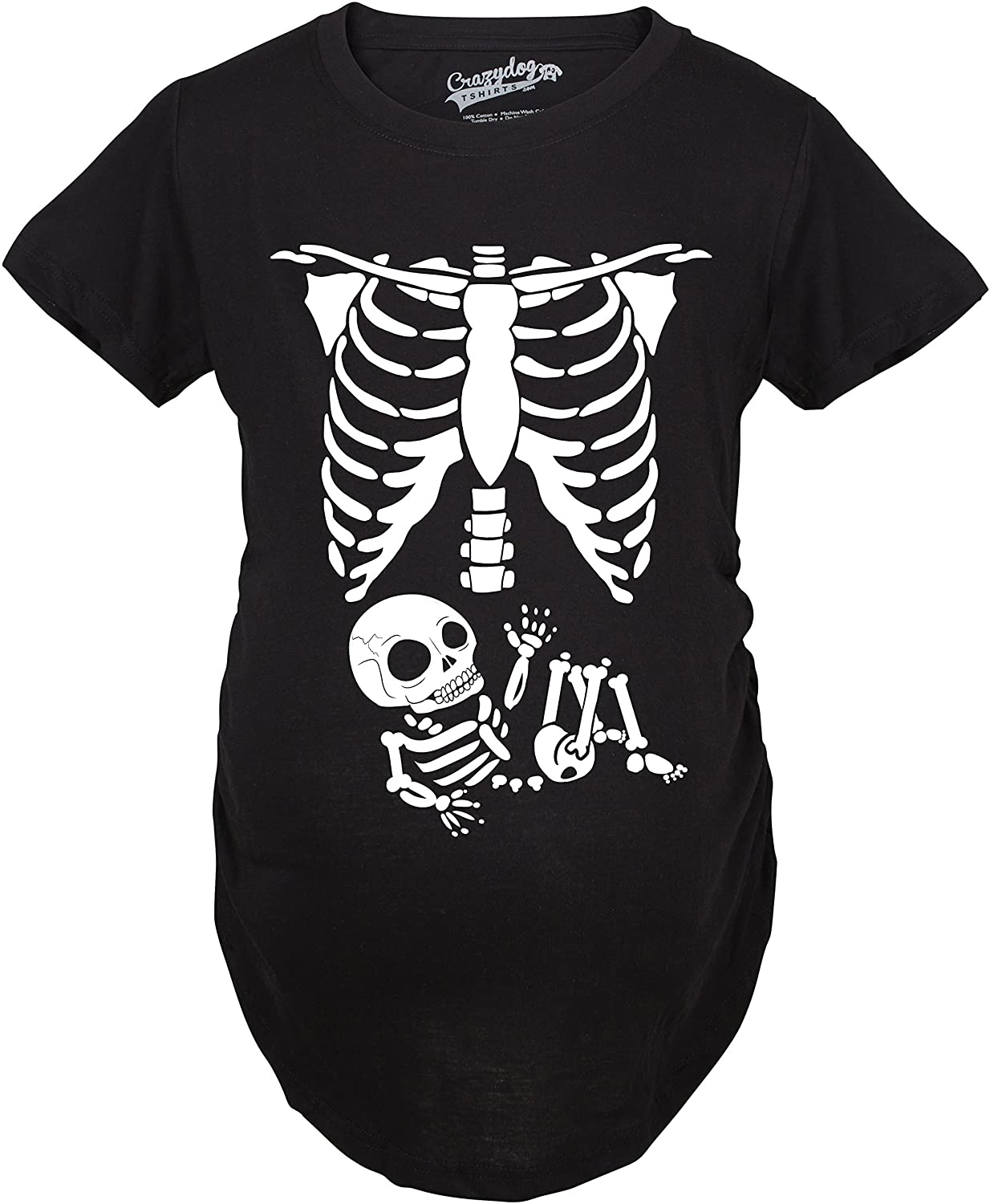Maternity Skeleton Baby T Shirt Halloween Costume Funny Pregnancy Tee For Mother