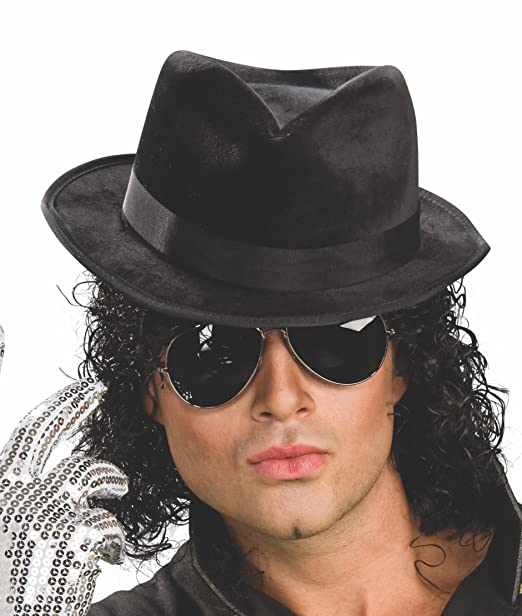 Amazon.com  Rubie s Michael Jackson Adult Black Fedora Hat  Clothing 99a655aa83d