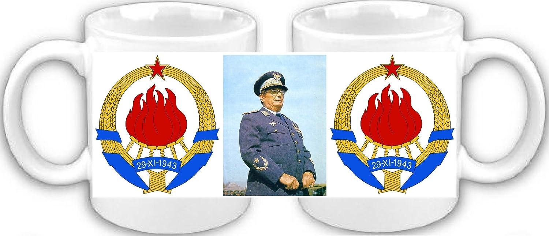 Smithfield Mariscal Josep Broz Tito Souvenir Taza de café: Amazon.es: Hogar