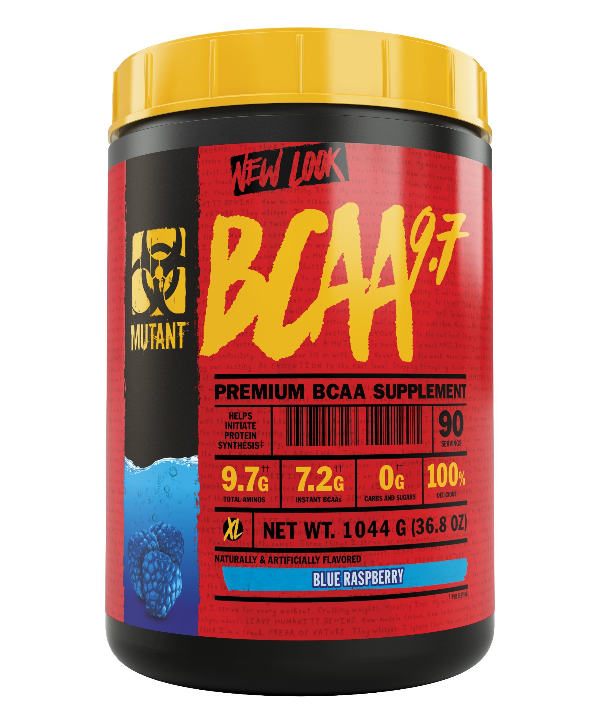 Mutant BCAA 9.7 Supplement BCAA Powder with Micronized Amino Energy Support Stack, 1044g - Blue Raspberry