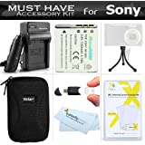 Must Have Accessory Kit For Sony Cyber-shot DSC-W800, W800/B, W800/S, DSC-W830, DSCW830/B, DSCW830 DSCWX220/B Digital Camera Includes Replacement (1300maH) NP-BN1 Battery + Ac/Dc Charger + Case + More