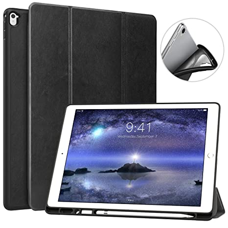 buy popular 2dd95 32f3e MoKo Case for iPad Pro 12.9 2017/2015 with Apple Pencil Holder - Slim  Lightweight Smart Shell Stand Cover Case with Auto Wake/Sleep for Apple  iPad Pro ...