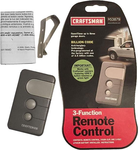 Craftsman 139 53879 Garage Door Opener Remote 3 Button 53879 Garage Door Remote Controls Amazon Com