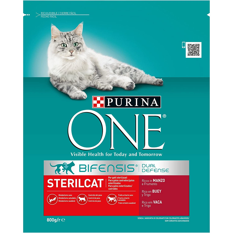 Purina One Bifensis Pienso Comida para Gatos Esterilizados, Sabor ...