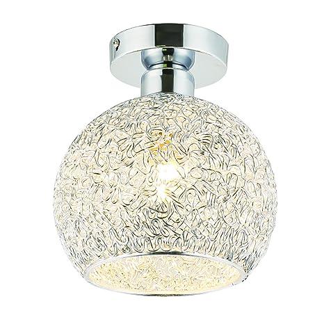 Goeco Modern deckenleuchte LED Mini Ball lámpara de techo con bombilla de aluminio Metal pantalla para salón y dormitorio, luz blanca cálida Bombilla ...