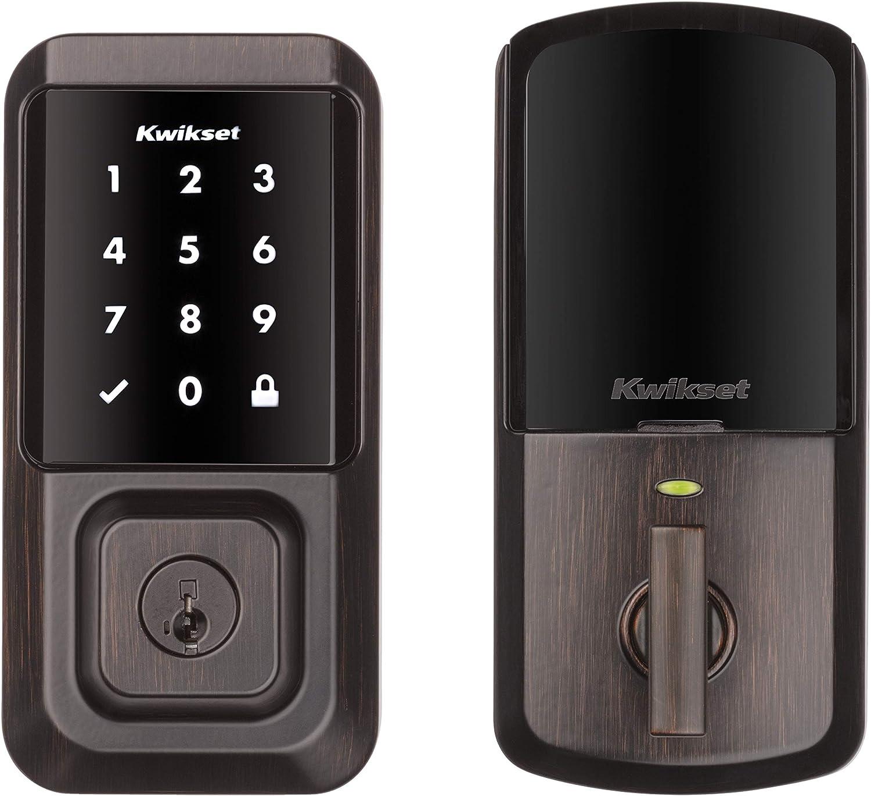 Kwikset 99390-002 Halo Wi-Fi Smart Lock Keyless Entry Electronic Touchscreen Deadbolt Featuring SmartKey Security, Venetian Bronze