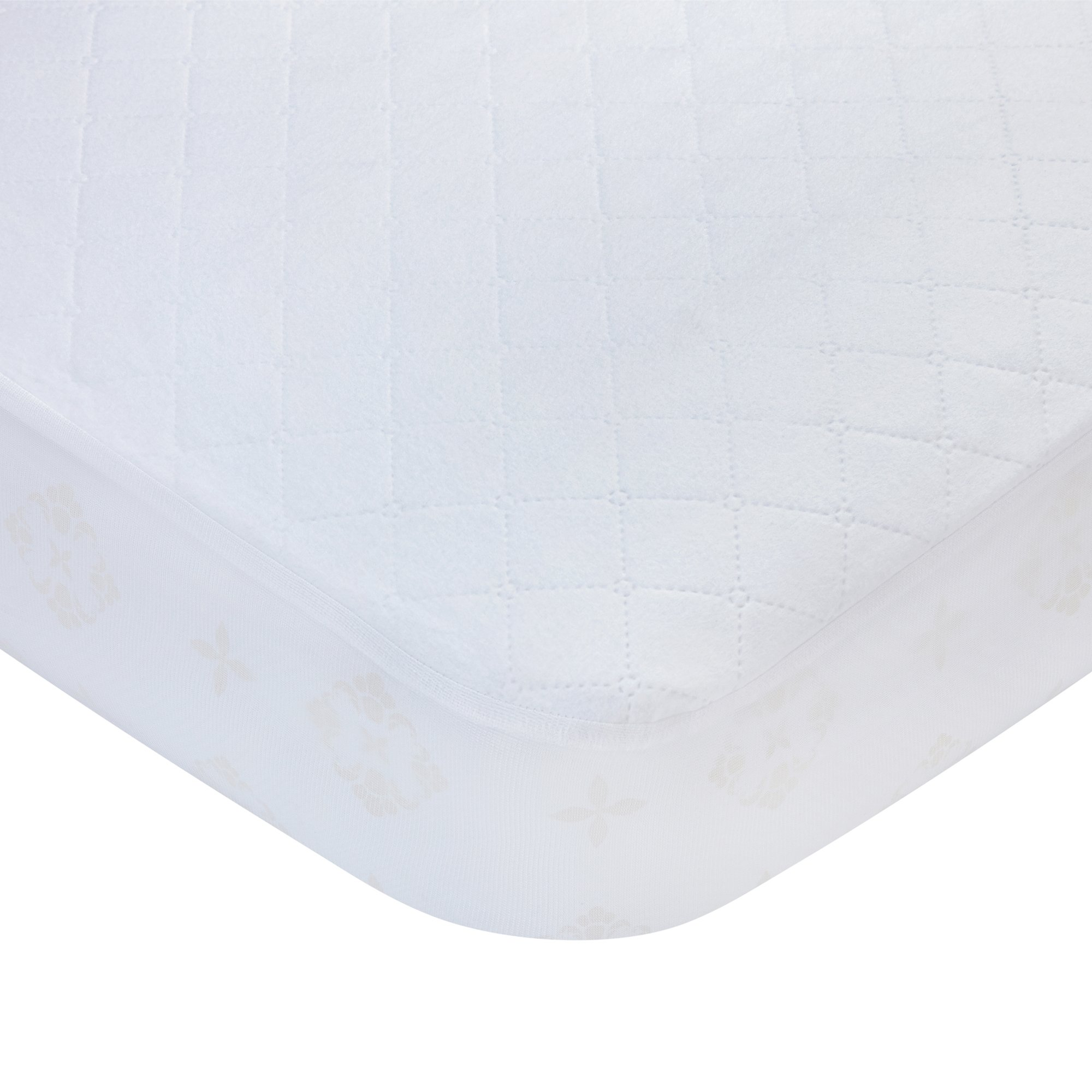 Carters Waterproof Fitted Quilted Crib and Toddler Protective Mattress Pad Cover, White by Carter's