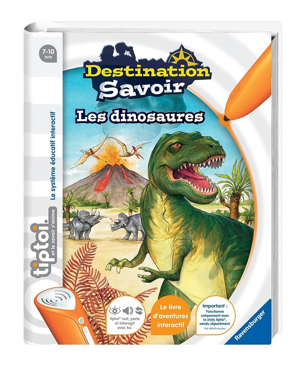 Ravensburger - 00599 -  Jeu Éducatif Électronique  - Tiptoi - Livre - Destination Savoir Dinosaures Tiptoi, Lecteur Stylo non inclus Jeu Éducatif et Scientifique