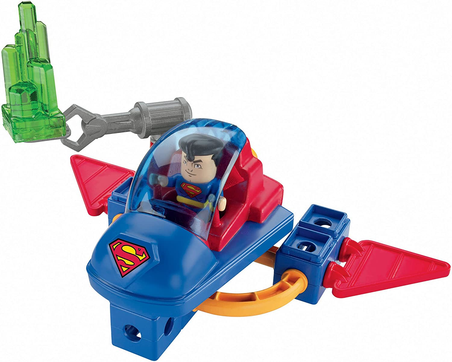 FISHER-PRICE TRIO SUPER FRIENDS FIGURE SUPERMAN /& SPACE SLED BUILDING TOY SET